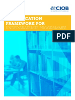 CIOB Education Framework for Undergraduate Progamme 2013