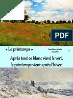 Le Printemps, Claude Roy