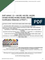 SAP HANA 1