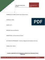 Actividad 2 Tarea Derecho y Obligaciones de Personas Fisica y Morales