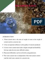 Water Cement Ratio