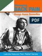 Managing Back Pain With BONUS Home Remedies - Lakota Natural Pain Relief