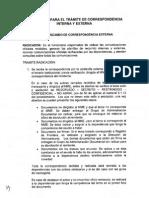 Instructivo Para El Tramite de Correspondencia Interna y Externa