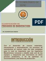 Clasificación de Procesos de Manufactura
