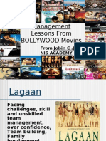 Management Lesson's of BOLLYWOOD Film