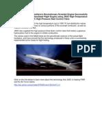 Pratt & Whitney Rocketdyne's Revolutionary Scramjet Engine Successfully Powers First