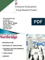 Perfomance Evaluation