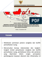 Bahan Pengantar FGD Penyusunan SOP Penyelesaian Konflik Tata Ruang