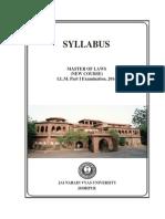 Syllabus LL.M. Part-I,2014