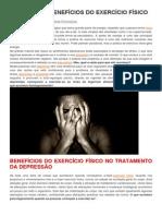Depressão Saiba Os Benefícios Dos Exercícios Físicos
