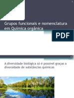 Grupos Funcionais e Nomenclatura Em Química Orgânica