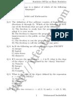 MCQs about R Language - Statistics Software