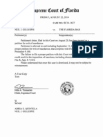 ORDER Case SC14-1637, petition due Sep-11-2014