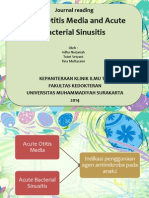 Acute Otitis Media and Acute Bacterial Sinusitis