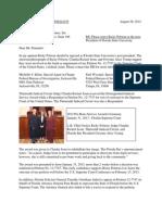 Letter to Alberto Pimentel