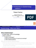Brief Introduction to Epistemology