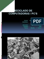 Reciclado de Computadoras