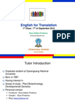 English for Translation Class1 Module1.ppt