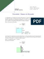 Viscosidad - Número de Reynolds - Ejercicios