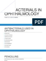 Antibacterials in Ophthalmology