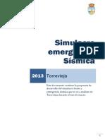 Simulacro emergencia Sísmica - Torrevieja 2013