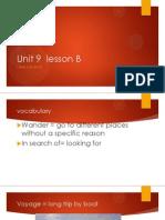 unit 9  lesson b