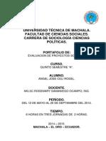 Portafolio Evaluacion de Proyectos Sociales.