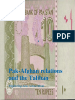 Pak-Afghan Relations and the Taliban