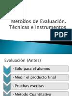 Evaluacion e Instrumentos