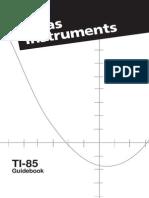 Manual Calculadora Texas Instruments-TI85
