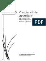 Cuestionario de Aptitudes e Intereses