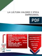 La Cultura Valores y Etica Empresarial