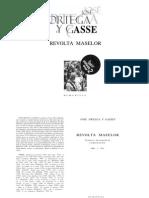 Jose Ortega y Gasset - Revolta Maselor