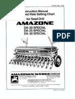 Manual Amazone D8-30
