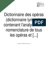 Larousse - Dictionnaire Des Óperas
