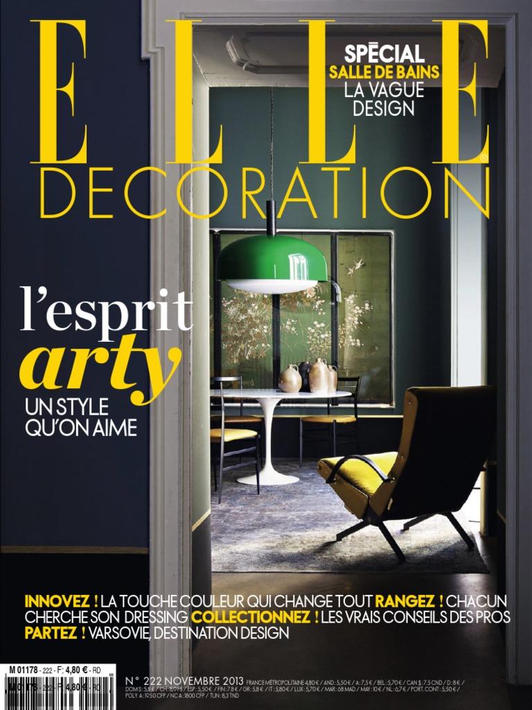 elle decoration france 2013. Black Bedroom Furniture Sets. Home Design Ideas