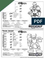 Friendzone - Fichas de RPG - 6 Fichas