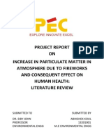 Increase in PM Due to Fireworks