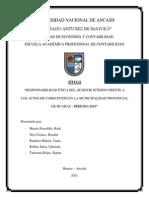 Responsabilidad Etica Del Auditor Interno