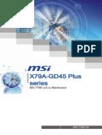 MSI X79 GD45 PLUS Motherboard Manual