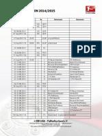 Spielplan Bundesliga 2014 2015