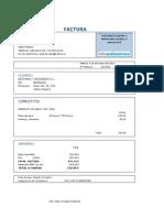 Modelos de Factura Ordinaria, Simplificada y Rectificativa