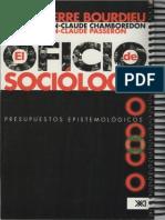 El Oficio de Sociologo Pierre Bourdieu