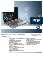 HP Pavilion Dv7-1020ea Entertainment Notebook PC