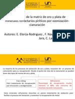 El Tratamiento de La Matriz de Oro y Plata de Minerales Refractarios Piríticos Por Ozonización-cianuración