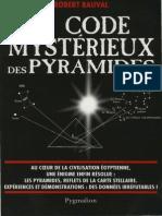 Bauval Robert - Le Code Mystérieux Des Pyramides