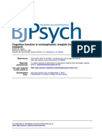 Cognitive Function in Schizophrenia - Insights From Intelligence Research