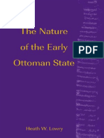 LOWRY, H. the Nature of the Early Ottoman State