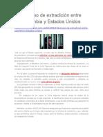 Proceso de Extradición Entre Colombia y Estados Unidos