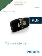 Radiosveglia Philips AJ3400_12 - Istruzioni d'Uso